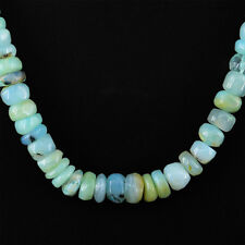 Excellent Buyers Demanded 356.25 Cts Natural Rare Peruvian Opal Beads Necklace