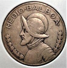 1930 Silver Half Balboa Coin from Panama