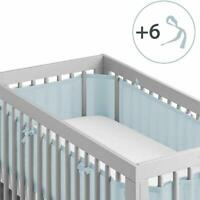 Crib Bedding Bumper Set of 2 Baby Crib Bumper Mesh Adjustble RANDOM COLOR