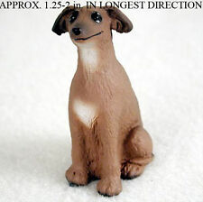 Italian Greyhound Mini Resin Dog Figurine Statue Hand Painted