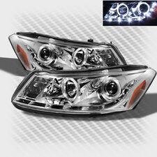 For 2008-2012 Honda Accord 4 Door Dual Halo LED Pro Headlights Head Lights