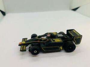 HO SLOT CAR AURORA AFX LOTUS ANDRETTI F1 INDY BLACK NGK G-PLUS E-12 CHASSIS RUNS