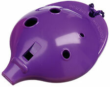 Plastic OCARINA , Purple 4-hole; Easy-to-play Musical Instrument