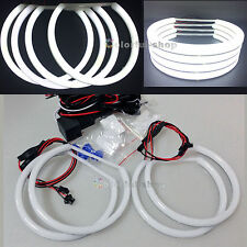 4X Cotton light SMD LED ANGEL EYES HALO RING Lamps for BMW E36 E38 E46 E39-white