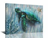 Canvas Sea Turtle Wall Art Prints Submarine Picture One Panel Beach Ocean Decor