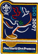 Boy Scout Badge 2007 CENTENARY One World One Promise