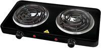 Portable Electric Dual 2 Buffet Burner Hot Plate Cook 1500 Watt NEW!