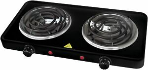 Portable Electric Dual 2 Buffet Burner Hot Plate Cook 1500 Watt NEW!