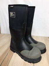 BOGS Forge ST  69172-001 Black Rubber Safety Toe Boot Men 9