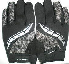 NEW MUDDY FOX CHARCOAL CYCLE SIZE XL CYCLING GLOVES FULL FINGERS MENS BICYCLE