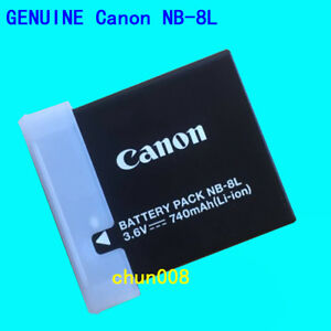 Genuine Canon NB-8L Battery for PowerShot A2200 A3100 A3300 A3200 A3000 CB-2LAE
