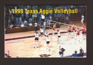 Texas A&M Aggies--1999 Volleyball Pocket Schedule--Texas A&M Bookstore