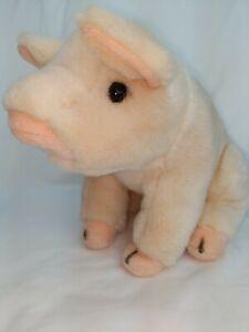 "10"" Ganz Heritage collection BABE PINK PIG plush stuffed animal used EUC"