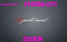 Aufkleber Sport Mind Sport Tuning Wunschtext Motorsport JDM Auto Scheibe Heck