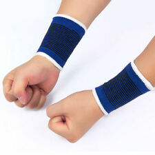 2x Gym Sport Pain Relief Fitness Elastic Wrist Hand Support Brace Band Blue