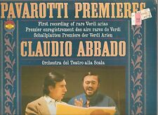 PAVAROTTI Premieres Rare VERDI Arias LP STILL SEALED! C.Abbado/Tearto alla Scala