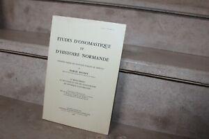 M.Baudot - études d'onomastique et d'histoire normande