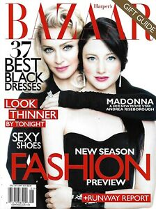 Madonna Harper's Bazaar Magazine David Hockney Patti Hansen Rosie Huntington  .
