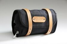 Cicli-Franconi Satteltasche Saddle Bag, Canvas Leder Fahrradtasche,retro,schwarz