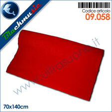 Moquette acustica liscia rosso 70x140cm per interni, subwoofer e pianali