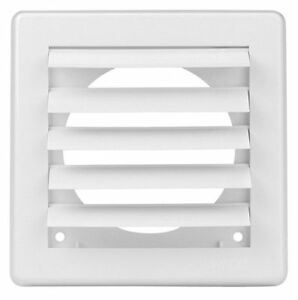 """Air Vent Grille Cover 5 Gravity Flaps 200x200mm (8x8"""") WHITE Ø150mm (6"""")Duct"""