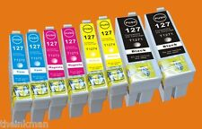 T127 ink COMPATIBLE 8 PACK FOR  EPSON WORKFORCE WF-7510 & WF-7520  Non OEM