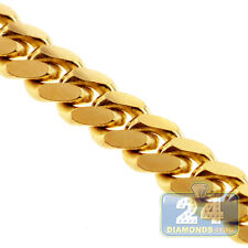 """Solid 10K Yellow Gold Curb Miami Cuban Link Mens Chain 3.5 mm 30"""" Lobster"""