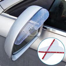 2PCs Clear Rear View Side Mirror Rain Board Sun Visor Shade Shield for Car Truck