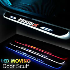 2x LED Moving Door Sill Scuff Plate Lights Step Panel For BMW 3Series F30 14-16