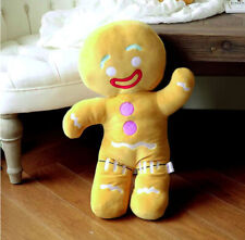Cute Gingerbread Man Stuffed Animal Biscuits Man Cartoon Plush Toy For Kid 30cm