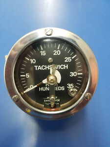 "T8735 MURPHY TACHSWICH. 3-7/16"" DIAL. ADJUSTABLE SHUTOFF. 0-3500 RPM. FREE SHIP"