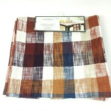 "Threshold Extended Length Table Runner Multi Plaid 14"" x 108"""