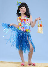 Kids Size Blue Hula Grass Skirt