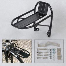 Black Cycling Bike Bicycle Aluminum Alloy Front Rack Pannier Bag Bracket Quality