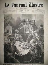 SALLE DE JEU CLANDESTINE TRIPOT DESCENTE POLICE GRAVURE LE JOURNAL ILLUSTRé 1877