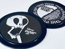 More details for crass. subhumans. 2 vinyl record label coasters. anarcho punk