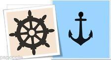 Stencil Anchor Captains Wheel Shiip Nautical Sailing 2 Separate Stencils