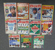 Lot of 11 INSIDE SPORTS Magazines with BASEBALL Covers & Content, 1984-1989