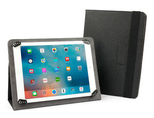 Black PU Leather Stand Case with Adjustable Clasps For iPad Mini 5th Gen (2019)