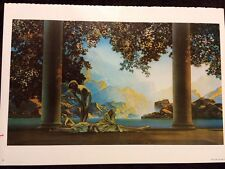 Art Nouveau Fantasy View Girls Toga Old Poster Maxfield Parrish Nude Risque