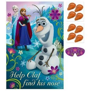 """Frozen Party Game """"Help Olaf find his Nose"""" for 2 - 8 Players"""