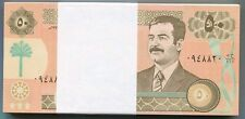 Saddam Hussein Iraq Iraqi Note 50 Dinar P75 UNC Original x 100 Pieces Bundle