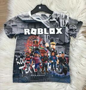 🍀Roblox Jungen T-Shirt Sommer Oberteil T-Shirt Kurzarm 6-16 Jahre🍀