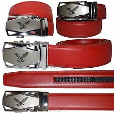 """Men's belt Leather Dress/Casual Click Comfort Automatic Lock belt up to 50"""" New"""