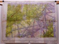 "1958 Map Kanawha River Ohio 358 USAF Edition World Aeronautical Chart 29"" x 22"""