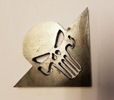 "Punisher Skull Gussets 3""x3""x0.25"" Cut Steel Rat Hot Rod Roll Bar gusset"