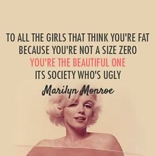 Your the Beautiful by: Monroe Quotes  Quality Canvas wall arts choose your size