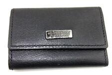 Authentic Burberry Black Label Black Leather Multicles 5 Key Case France