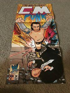 Vintage WWF WWE C.M. PUNK Poster PHILLIP JACK BROOKS MMA UFC RARE
