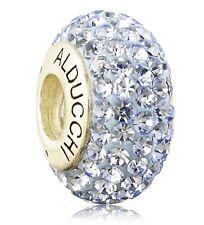Alducchi Light Sapphire Blue Crystal .925 Silver European Charm Bead